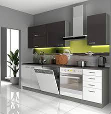 küche basic v 240 küchenzeile hochglanz weiß grau einbauküche grey