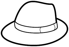 Gentleman Hat Coloring Pages
