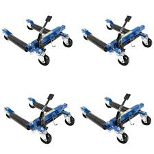 Capri Tools 1500 Lb. 12 In. Hydraulic Car Wheel Dolly With Stand (4 ...