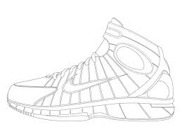 Sneaker Coloring Book Pdf Download Printable Shoe Template Color Pictures Colouring Nike Jordan Full Size