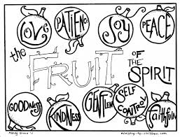 Ideas Of Free Bible Coloring Pages Fruit The Spirit About Format Sample