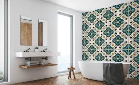 tapeten für badezimmer demur