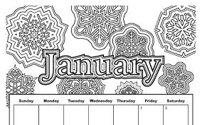 January Coloring Pages For Kindergarten Kids