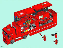 100 Lego Truck Instructions LEGO Scuderia Ferrari Set 8654