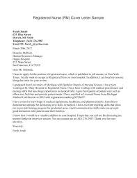 Nursing Grad School Resume Sample New Nurse Graduate Cover Letter