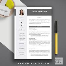 Downloadable Free Page Resume Template Creative Modern Cv Word Cover Letter Fabulous 1