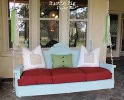 EXTERIOR DESIGN Cozy Outdoor Seating Using Porch Swing Cushions