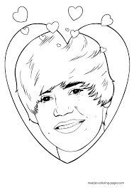 Coloring Page Justin Bieber Celebrities 36