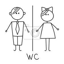 wc schild toilette türschild symbol wc symbol badezimmer teller bilder myloview