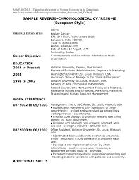 Sample Resume Reverse Chronological Order 13 Formater Best Example