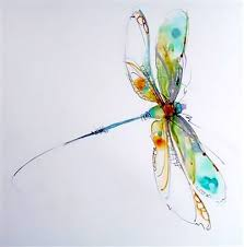 Watercolor Dragonfly Tattoo Design
