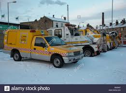Breakdown Trucks In The Snow Stock Photo: 33545799 - Alamy