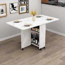 holz klapp esstisch mit räder wohnzimmer küche tische möbel umweltfreundliche holz bewegliche lagerung wand tisch
