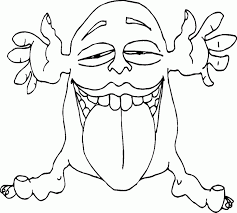 Cute Monster Coloring Pages Monsters Big Tongue Printable Funny Sheets Animal
