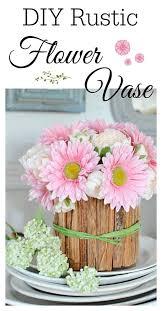 Make A Rustic Flower Vase With Kindling Wood