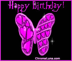 Another friends image Birthday Butterfly Hearts Pink for MySpace from ChromaLuna