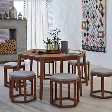 buy john lewis venice 6 seater hexagonal dining table chairs set
