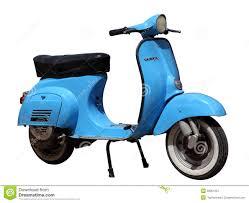 Blue Vintage Vespa Scooter