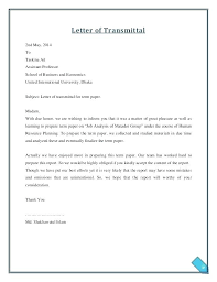 Letter Transmittal Template Collection Solutions Transmittal
