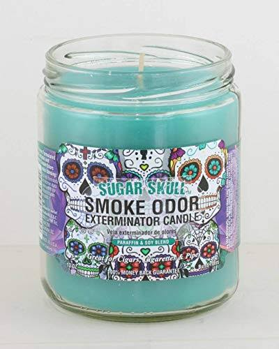 Smoke Odor Exterminator 13oz Jar Candle, Sugar Skull, 13 oz