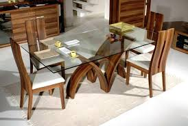 Glass Top Dining Room Table Tables With Wood Base