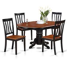 East West Furniture AVAT5-BLK-W Cophagen 3piece Black And Cherry Ding Set Wood Kitchen Island Table Types Of Winners Only Topaz Wodtc24278 3 Piece And Chairs Property With Bench Visual Invigorate Sets You Ll Love Walnut Tables Custmadecom Cafe Back Drop Leaf Dinette Sudo3bchw Sudbury One Round Two Seat In A Rich Finish Sabrina Country Style 9 Pcs White Counter Height Queen Anne Room 4 Fniture Of America Dover 6pc Venus Glass Top Soft
