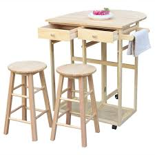 Amazon.com - HOBBYN Rolling Kitchen Island With Seating 3pcs Dining ... Space Saving Kitchen Table And Chairs House Design Ipirations Saver Marvellous Classic Ikea Folding Ding Tables Surripuinet Spacesaving 4 Seater Ding Table Set In Blairgowrie Perth And Interior Sets With Next Day Delivery Room Set Value Compact 2 Seater Ideas 42 Inch Round Langford For 7500 Sale Of 3 Rustic Rectangular Benches 5 Pcs Wood W Storage Ottoman Stools Courtyard Costway Piece Dinette