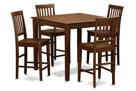 VERN5-MAH-W 5 Pc Pub Table Set-counter Height Table And 4 Kitchen Chairs.
