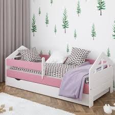 funktionsbett lanier mit schublade isabelle max farbe bettgestell anthrazit rosa grün weiß größe 80 x 180 cm