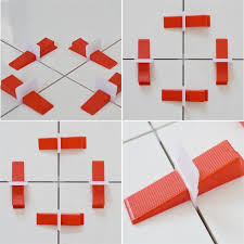 tile leveling system 300 with 100 wedges plastic spacers