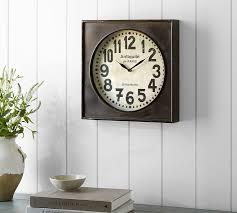 Pottery Barn Metal Wall Decor by Bronze Wall Clock Pottery Barn