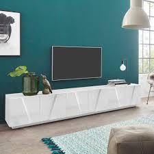 moderner wohnzimmer tv schrank mit 6 türen und 3 fächern ping low xl white