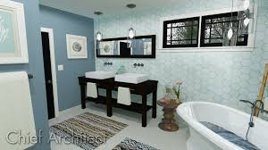 Gray And Teal Bathroom by Chief Architect Home Design Software Samples Gallery