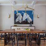 Artistic Designs For Living Dining Area With Blue Wall Art Best Picture