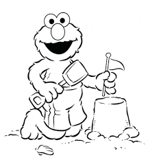 Baby Coloring Pages To Print On Images Free Download Elmo Christmas Sesame Street Colouring Printables