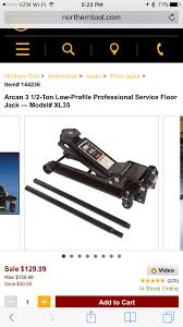 Arcan Floor Jack Xl35 by Jacking Up Car Jack And Jackstands Alfa Romeo 4c Forums