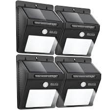 outdoor waterproof motion sensor solar wall lights 4 pack 9 97