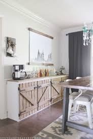 Upcycled Barnwood Style Cabinet Dining Room Ideas Diy Kitchen Cabinets Repurposing Upcycling Build Your