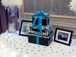 Elegant Gift Table With Stacked Box Envelope Holder