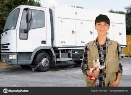 100 Female Truck Driver Truck Driver Delivering Food Stock Photo Katy89