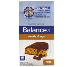 Balance Bar Nutrition Cookie Dough 15 Bars 176 Oz 50