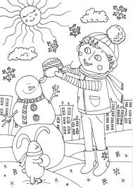 Click To See Printable Version Of Peter Boy In January Coloring Page