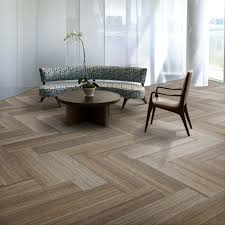 Tiled Carpet by Interfaceflor Walk The Plank Wood Look With The Softness Of