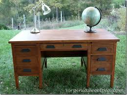 vintage teacher s desk makeover desks desk makeover and