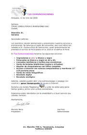 Carta Promocional Para Empresas