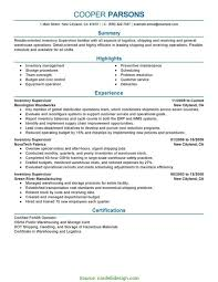 Unusual Warehouse Supervisor Resume Objective Examples Throughout