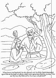 Gorgeous Inspiration Baptism Of Jesus Coloring Page Pages Printables