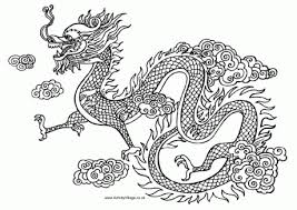 Free Download Coloring Printable Dragon Pages For Book