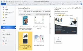 Brochure Template Microsoft Word 2010 How To Design A Using Pcworld Ideas