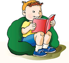 Young Boy Reading Book Vector Art Illustration